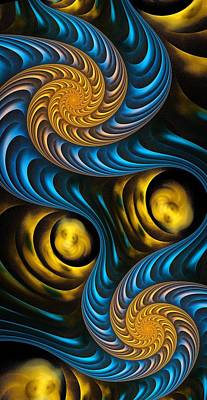 Starry Night - Fractal Art Poster