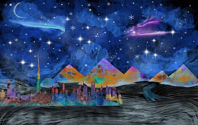 Starry Night In Dubai Poster by Becca Buecher