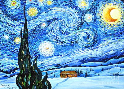 Starry Night In The Rockies Poster