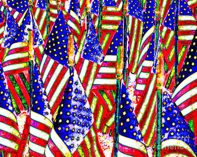 Stars And Stripes 20140821 Horizontal Poster by Wingsdomain Art and Photography