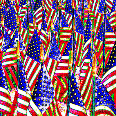 Stars And Stripes 20140821 Square Poster by Wingsdomain Art and Photography