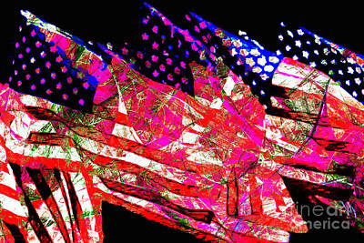 Stars And Stripes Of America Land Of The Free 20150828 Poster by Wingsdomain Art and Photography