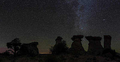 Stars In The Sky At Night, Canyons Poster by Panoramic Images