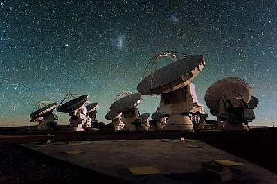 Stars Over Alma Poster by Eso/c. Malin