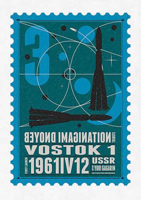 Starschips 03-poststamp - Vostok Poster by Chungkong Art