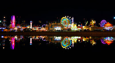 State Fair In Reflection Poster by David Lee Thompson