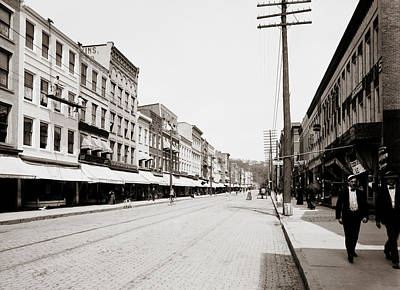State Street - Ithaca New York 1900 Poster by Mountain Dreams