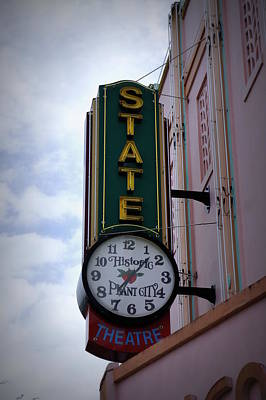 State Theatre Sign Poster by Laurie Perry