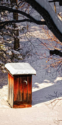 Stately Outhouse Poster by Timothy Flanigan