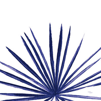 Statement Palms IIi Indigo Poster