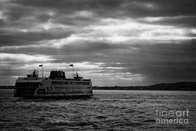 staten island ferry Andrew J Barberi heading towards staten island Poster by Joe Fox