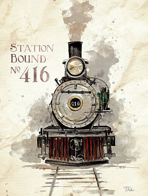 Station Bound No.416 Poster by Patricia Pinto