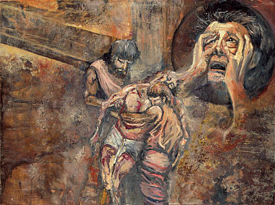 Station Xiii The Body Of Jesus Is Taken Down From The Cross Poster