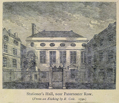 Stationer's Hall Near Paternoster Row Poster by British Library