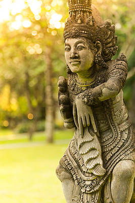 Poster featuring the photograph Statue - Bali by Matthew Onheiber