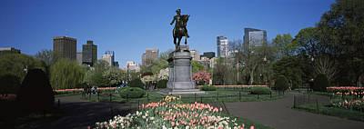 Statue In A Garden Paul Revere Statue Poster by Panoramic Images