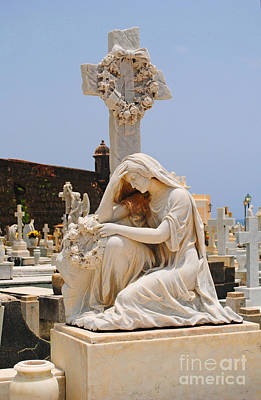 Statue Mourning Woman Poster