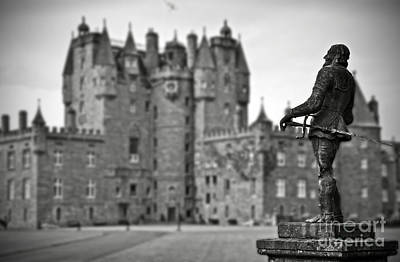 Statue Observing Glamis Castle Scotland Poster by RicardMN Photography
