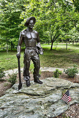 Statue Of A Ccc Boy At Gambrill State Park In Maryland Poster by William Kuta