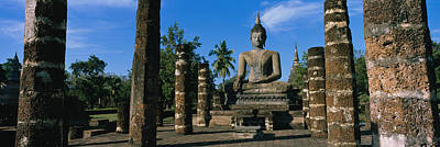 Statue Of Buddha In A Temple, Wat Poster by Panoramic Images