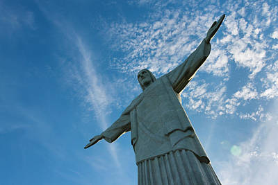Statue Of Christ The Redeemer Poster by Keren Su