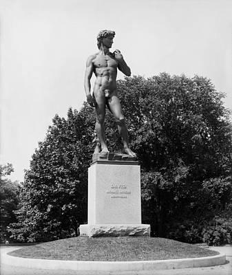 Statue Of David Delaware Park Buffalo Ny Poster by Bill Cannon