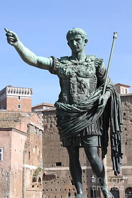 Statue Of Emperor Augustus Poster by Alessandro Russo