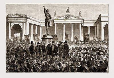 Statue Of Henry Grattan At Dublin, Ireland Poster by Litz Collection