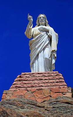 Statue Of Jesus Poster