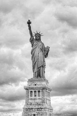 Poster featuring the photograph Statue Of Liberty Full by Dave Beckerman