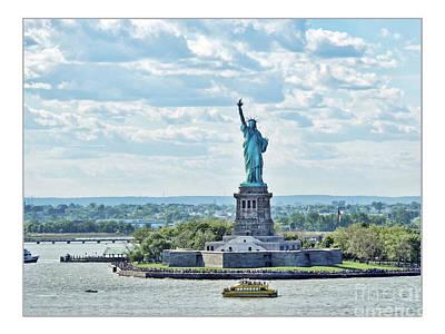 Statue Of Liberty Poster by Joan  Minchak