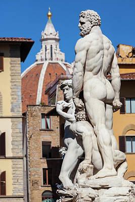 Statue Of Neptune, Piazza Della Poster by Peter Adams