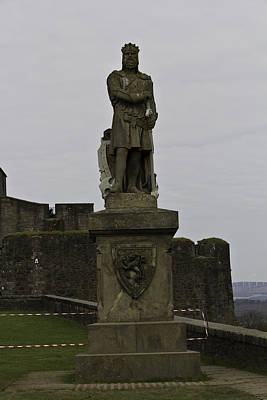 Statue Of Robert The Bruce On The Castle Esplanade At Stirling Castle Poster