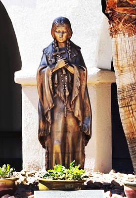 Statue Of Saint Kateri Tekakwitha Poster by Bruce Iorio