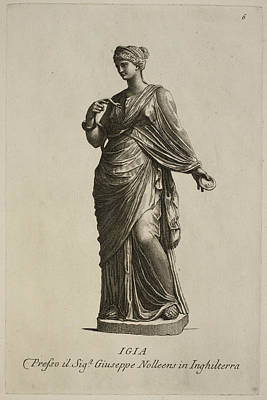 Statue Of Woman In Classical Robes Poster