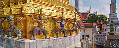 Statues At A Temple, Wat Phra Kaeo Poster
