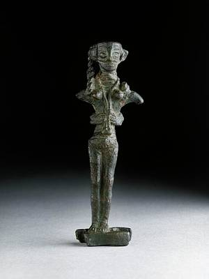 Statuette Of Astarte Poster by Ashmolean Museum/oxford University Images