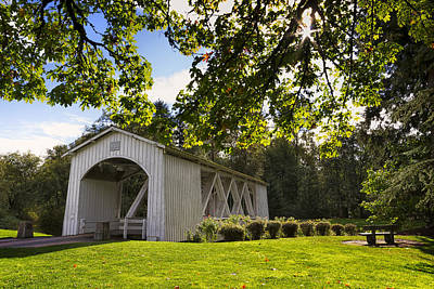 Stayton-jordan Covered Bridge Poster by Mark Kiver