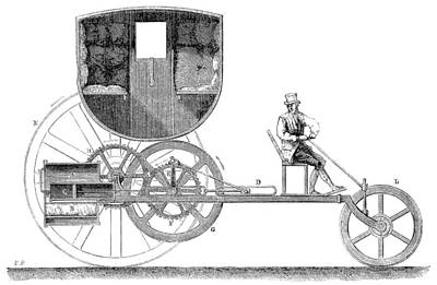 Steam Carriage, 1801 Poster by Granger