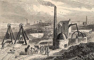 Steam Engine For Raising Coal Poster