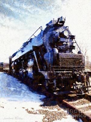 Steam Engine Locomotive 2124 Poster by Janine Riley