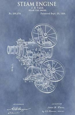 Steam Engine Patent Poster