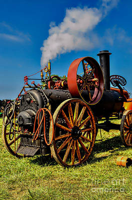 Steam Engine Poster by Trey Foerster