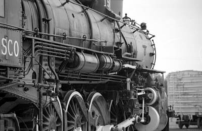 Steam Locomotive 1519 - Bw 02 Poster by Pamela Critchlow