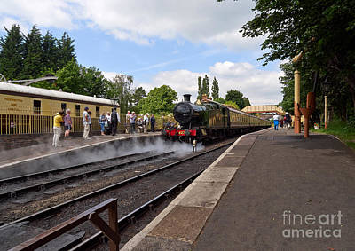 Steam Locomotive 4270 Arrives At Toddington Station Poster by Louise Heusinkveld