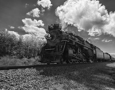 Steam Locomotive Passing Through Poster