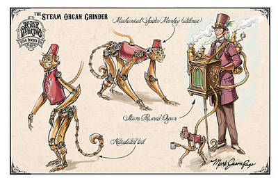 Steam Organ Grinder Poster