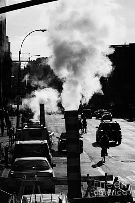 Steam Pipe Vent Stack New York City Street Manhattan Poster