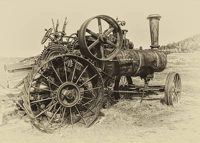 Steam Powered Farm Tractor - Molson Ghost Town Poster