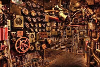 Steam Punk Battleship Engine Room Poster